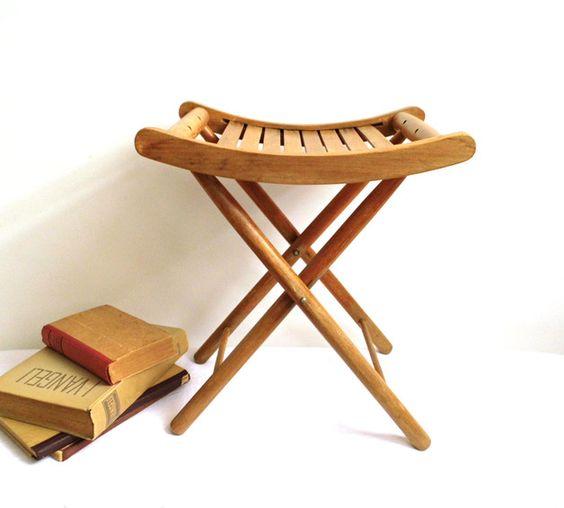 Vintage Stühle - Antik Vintage Klappstuhl - ein Designerstück von WoodHistory…