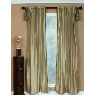 India House Single Curtain Panel Color:
