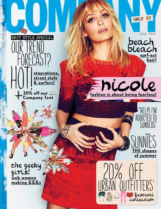 Nicole Richie covers Company Magazine July 2012