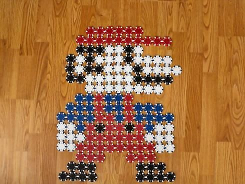 Supermario with poker chips