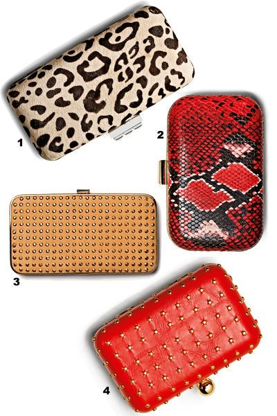 Snake or studs? Choose your favourite clutch! © Jens Utzt/Studio Condé Nast