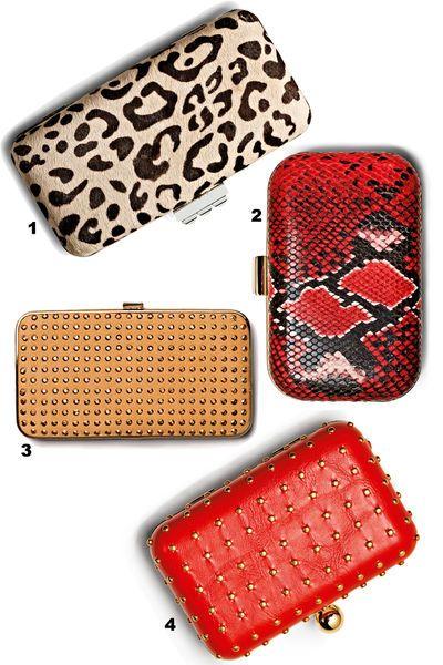 Snake or studs? Choose your favourite clutch! © Jens Utzt/Studio Condé Nast