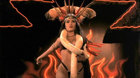 Hey, I never said this would be all about the guys! 'From Dusk till Dawn' contained one of the biggest turnarounds I've ever seen in a movie. Salma Hayek plays Santánico Pandemónium, the club's star performer. She goes from sexy to horrifying in a matter of seconds in a twist I never saw coming!