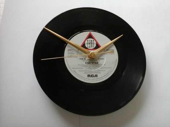 """Five star- the slightest touch    7"""" vinyl record clock  £6.99"""