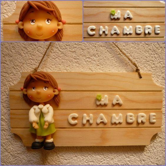 A pretty decoration for your bedroom's door. Décorez la porte de votre chambre avec cette adorable plaque .