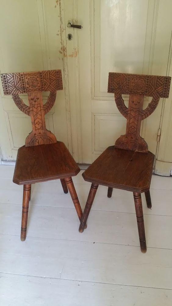 Munkstolar 500kr Munk chairs   Tibbleantik.se