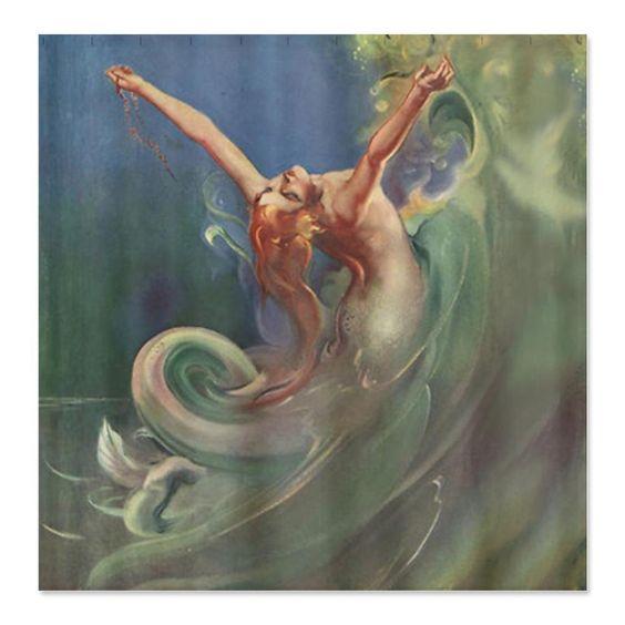 Amazon.com - CafePress Vintage Mermaid Art Shower Curtain - Standard White -