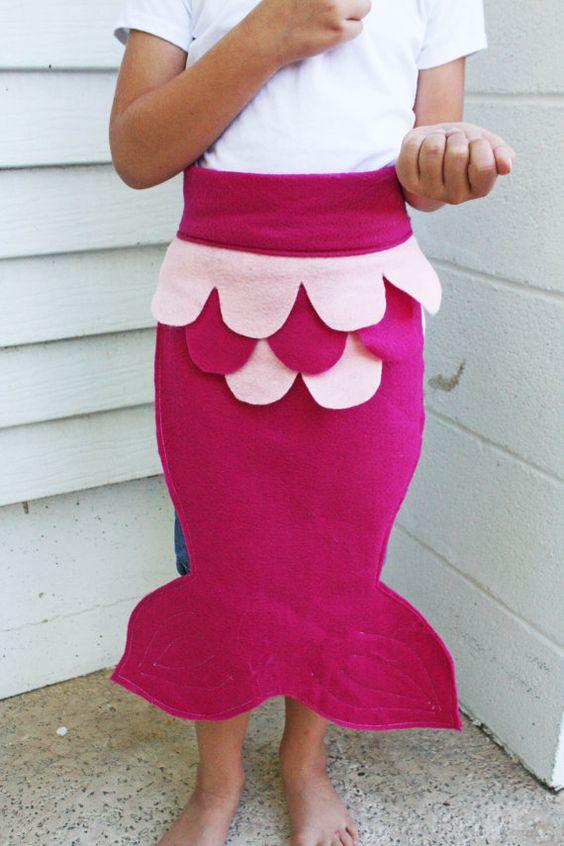 CIJ Kids Dress Up Fairy Tale Mermaid Costume Tail Pink Magenta ALL FELT Christmas in July Sale on Etsy, $17.00