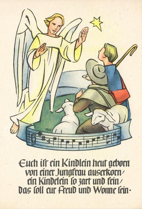 Weihnachten - Euch ist ein Kindlein heut geborn sign. , ca. 1963 | eBay
