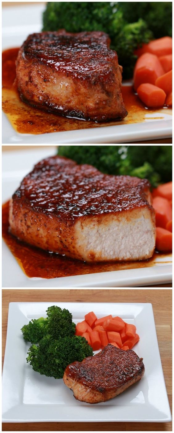 Easy Pork Chops With Veggies | Here Is A Recipe For Easy Glazed Pork Chops That Is Pretty Fantastic