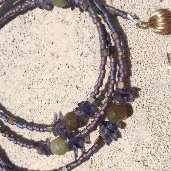 Handmade Gemstone Eyeglass Chain Reading by GypsiesBitsNBaubles