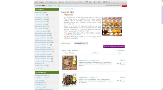 Aroma Oil - 10ml : PerfumeSoul.my, Perfume and Fragrance Shop