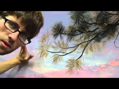 How To Paint Pine Needles - Mural Joe - YouTube