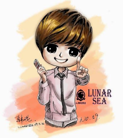 kim hyun joong caricatura
