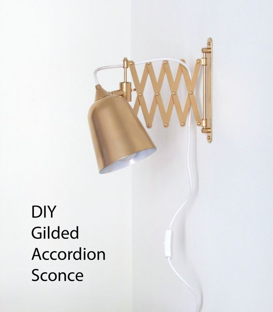 Diy Gilded Accordion Sconce Sconces And Diy And Crafts