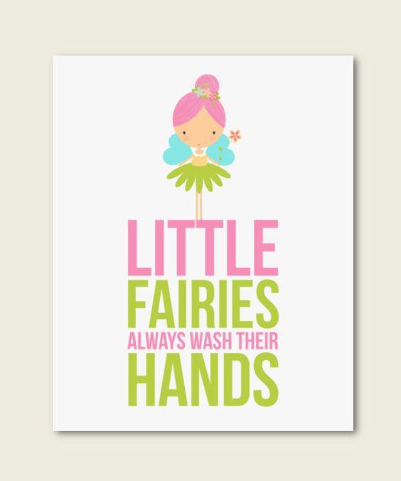Fairies nursery decorlittle fairies by RainbowsLollipopsArt