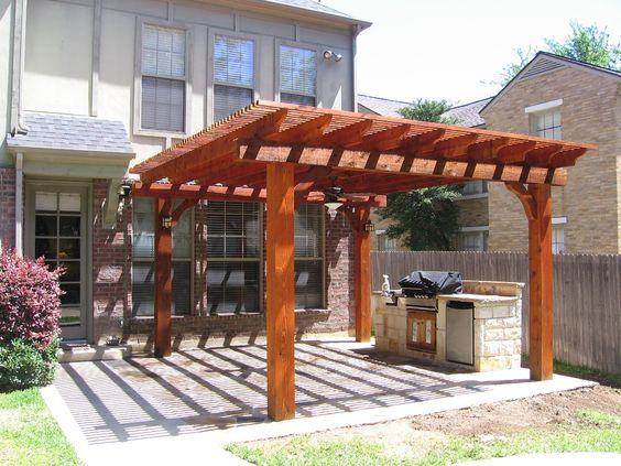 Charming Stamped Concrete Patio With Trellis | For The Home | Pinterest | Concrete  Patios, Stamped Concrete And Concrete