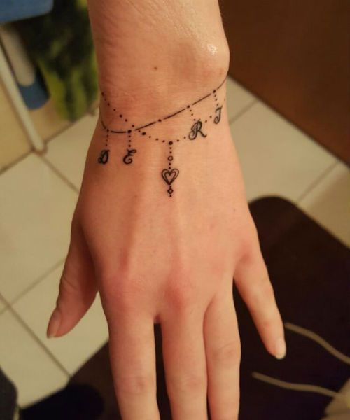 Sizzling Bracelet Tattoo Ideas For Girls And Women Ankle Bracelet Tattoo Wrist Tattoos For Women Wrist Bracelet Tattoo
