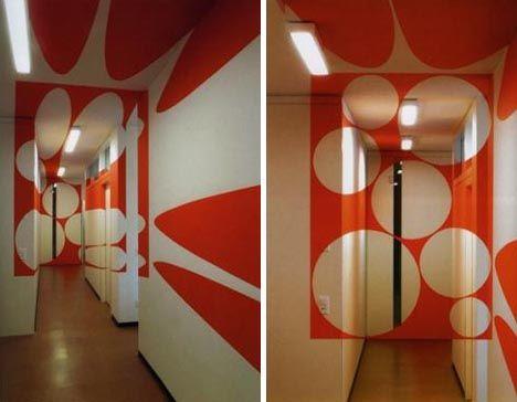 Interior design wall art incredible optical illusions - Illusion wallpaper for walls ...