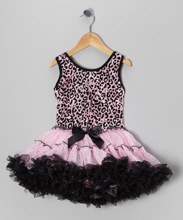 Take a look at this Pink Leopard Sequin Ruffle Dress - Toddler & Girls by Popatu by Posh on #zulily today!