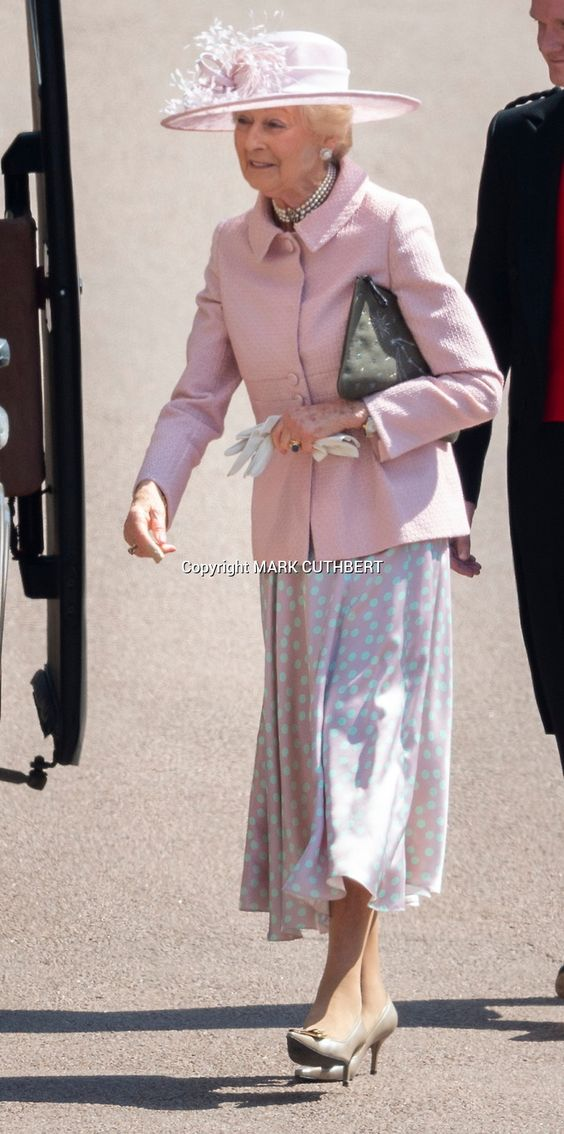 Princess Alexandra attends the wedding ceremony of Prince Harry, Duke of Sussex and Meghan Markle at St George's Chapel, Windsor Castle, in Windsor, on May 19, 2018.