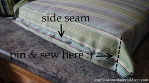DIY Cushions For Patio Furniture. Super Easy. I Didnu0027t Have Old Cushions To  Cover So I Used Layers Of Cheap Bed Padding Foam Wrapped In Batting. Lou2026 Part 70