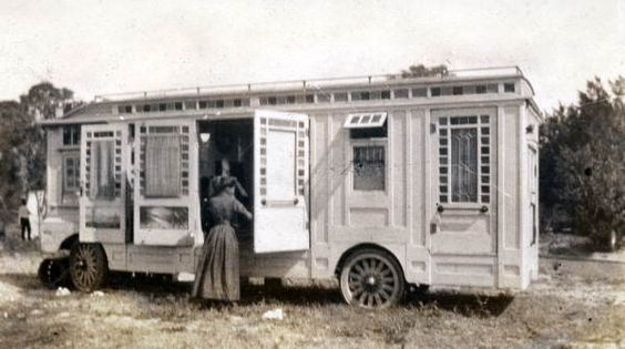 Looks like 1930's Truck camper at a Tin Can Tourists camp.