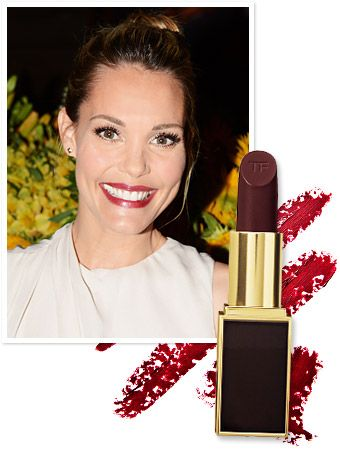 """""""My lipstick is Tom Ford's Black Orchid. It's a good color for fall,"""" #LeslieBibb told InStyle.com at the Clos du Bois Rouge launch. http://news.instyle.com/2012/08/16/leslie-bibb-wine-lipstick-color-tom-ford/"""