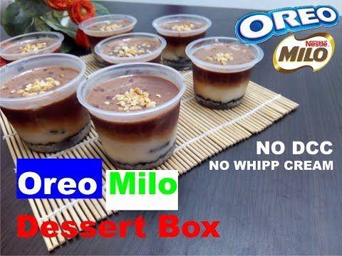 Oreo Milo Dessert Box No Whipp Cream No Dcc Youtube Oreo Pudding Oreo Desserts Pudding Desserts