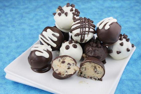 Chocolate Chip Cookie Dough Ball Truffles