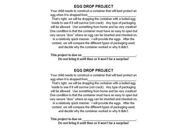Egg Drop Project (Easter Fun!) | Egg Drop, The Project and A Letter