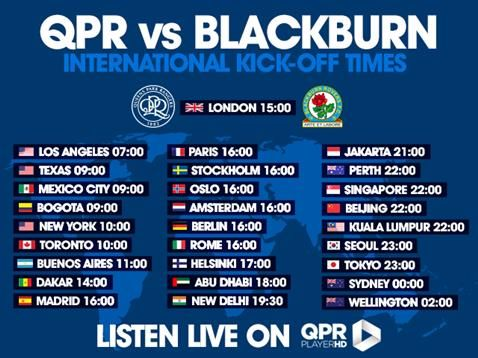 LIVE COMMENTARY: QPR V BLACKBURN ROVERS