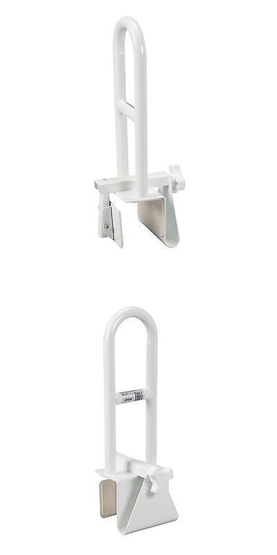 Tub Grab Bar Clamp On handles and rails: clamp on tub rail perpendicular bathroom safety