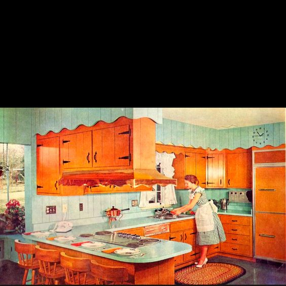 Teal And Red Yellow Orange Kitchen: Pine, Turquoise And Grandma's House On Pinterest