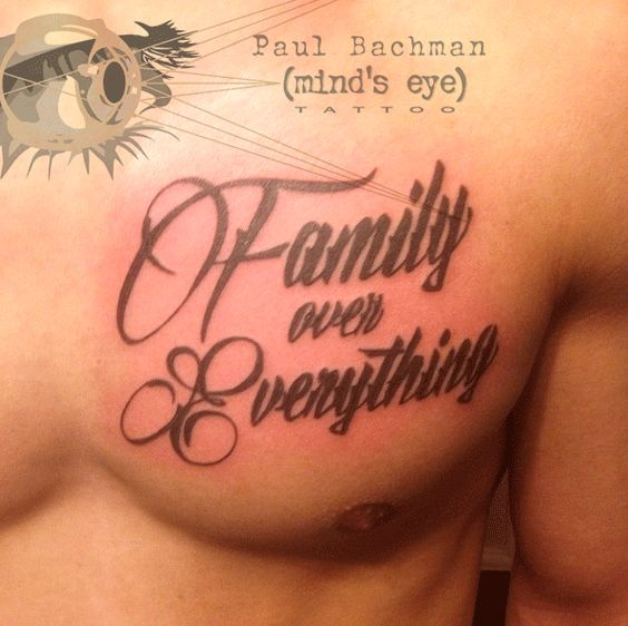 Family Over Everything, Eye Tattoos And 2 In On Pinterest