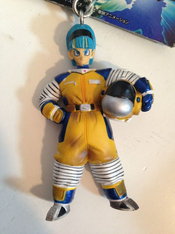 RARE! Dragon Ball Z Bulma Space Suits Figure Keychain Banpresto JAPAN ANIME