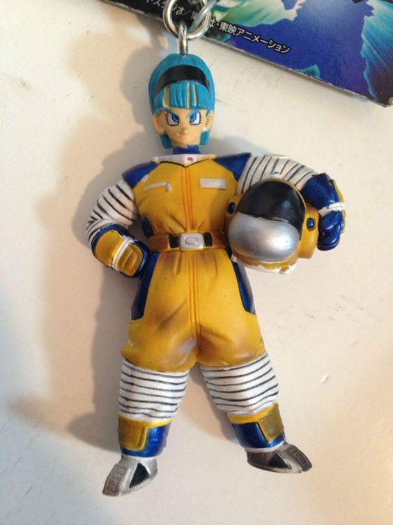 RARE! Dragon Ball Z Bulma Space Suits Figure Keychain Banpresto JAPAN ANIME