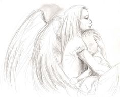 female guardian angel drawing - Google Search | Art ...