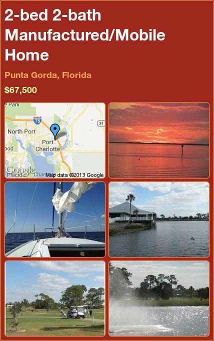 2-bed 2-bath Manufactured/Mobile Home in Punta Gorda, Florida ►$67,500 #PropertyForSale #RealEstate #Florida