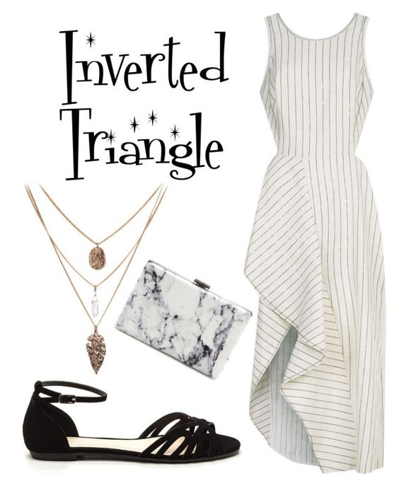 """""""Stripes for your body type - inverted triangle"""" by taylor-jones-viii on Polyvore featuring 3.1 Phillip Lim and Balenciaga"""