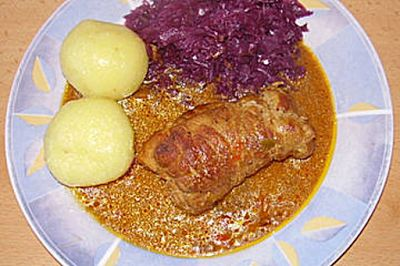 An die Töpfe , fertig looooo    Pork roulade with peppers oooooooooooos !: Schweinerouladen mit Paprika