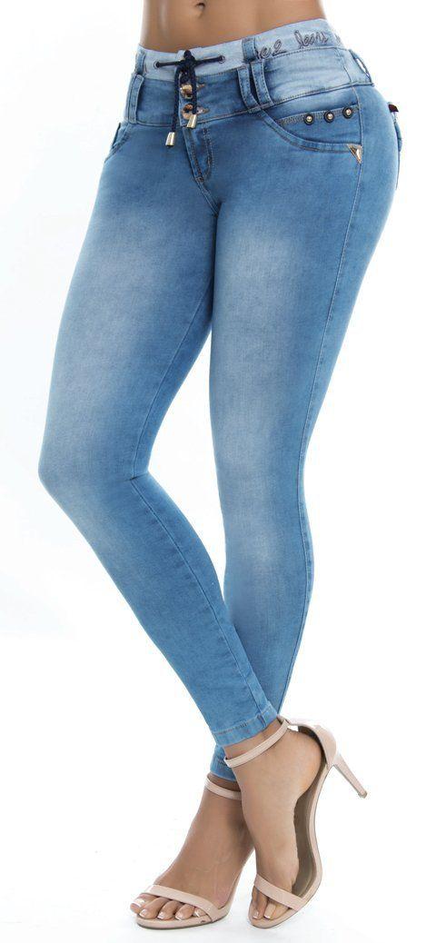 Jeans Levanta Cola Ene2 93379 Jeans De Moda Pantalones De Mezclilla Mujer Pantalones De Moda