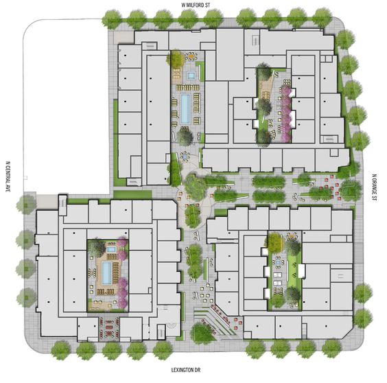 architecture urban design for student residence - Google Search