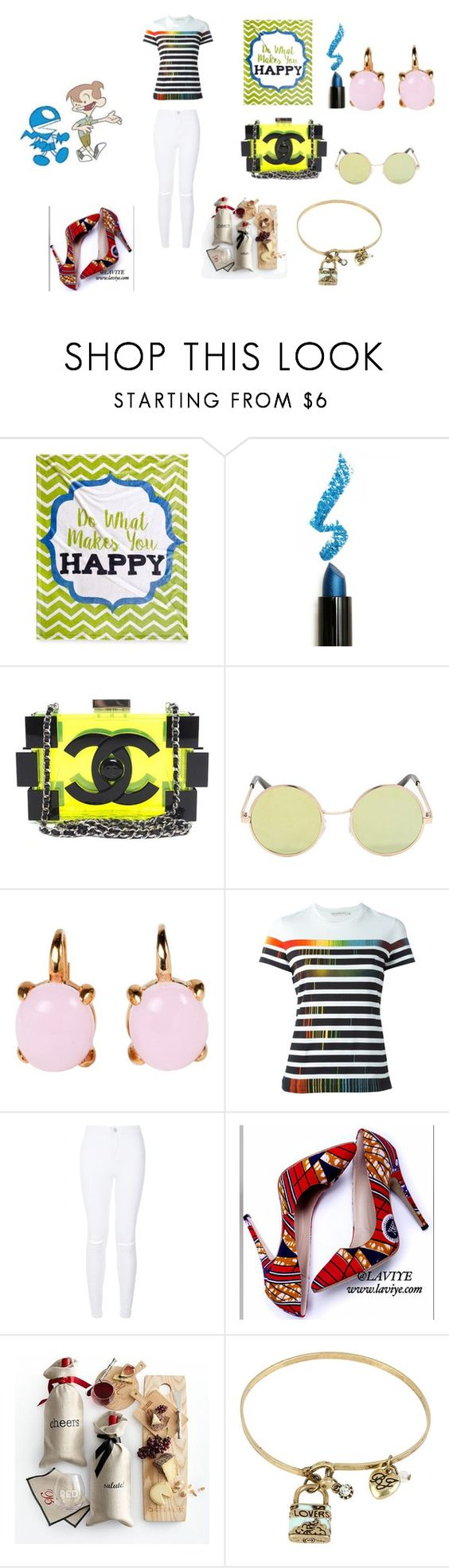 """yesssssssssssss do what make you happy"" by cecjones ❤ liked on Polyvore featuring Lime Crime, Chanel, Rina Limor, Mary Katrantzou, Mark & Graham, Betsey Johnson, women's clothing, women, female and woman"