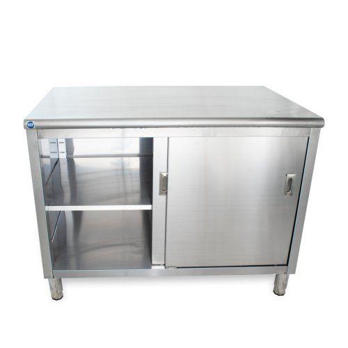 Universal St 330 48 30 X 48 Stainless Steel Storage Cabinet Sliding Doors Steel Storage Cabinets Metal Storage Cabinets Stainless Steel Kitchen Island