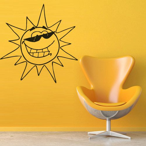 Wall decal decor decals art sun beam glasses by DecorWallDecals, $28.99