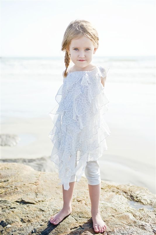 Kate Mack - Silver Asymmetrical Tunic and Leggings Set