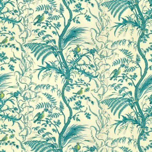 Brunschwig Fils Bird And Thistle Cotton Print Aqua Fabric In 2021 Aqua Fabric Thistle Print Fabric Birds Bird and thistle wallpaper green