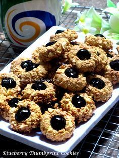 Resep Thumbprint Cookies : resep, thumbprint, cookies, Ordinary, Kitchen...:, BLUEBERRY, THUMBPRINT, COOKIES, Kering, Mentega,, Resep, Biskuit,, Makanan, Manis