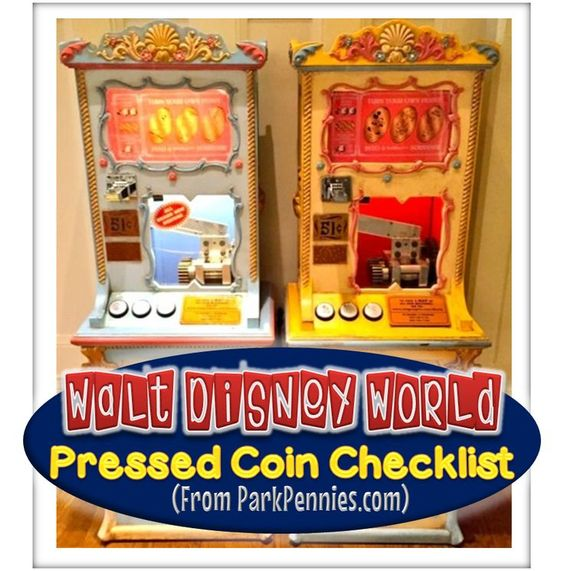 A PDF Checklist to help you locate pressed penny machines at Walt Disney World